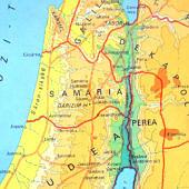 Samária térképen