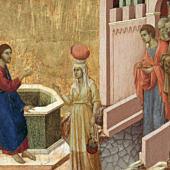 Duccio di Buoninsegna: Jézus és a samáriai asszony