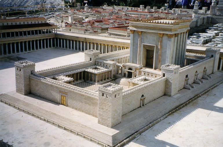 A jeruzsálemi templom makettje