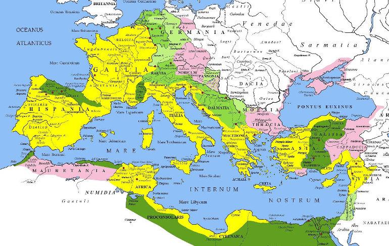 A Római Birodalom térképe