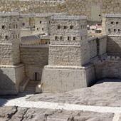 Az Antonia erőd makettje, Jézus római perének helyszíne
