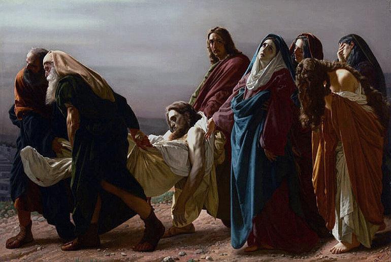 Antonio Ciseri: Krisztus sírba vitele