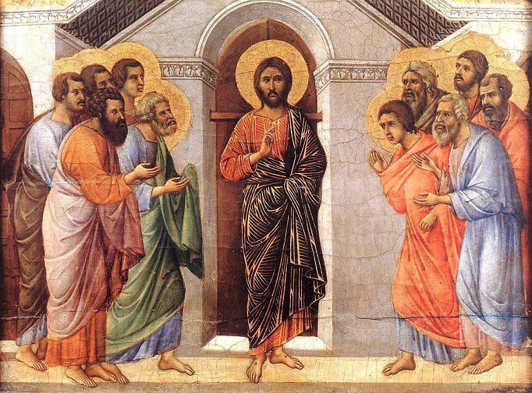 Duccio di Buoninsegna: Megjelenés zárt ajtók mögött