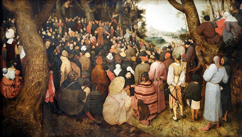 Pieter Bruegel: Keresztelő János prédikál