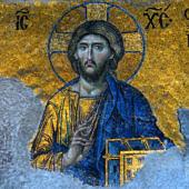 Pantokrátor Krisztus mozaik - Hagia Szophia bazilika