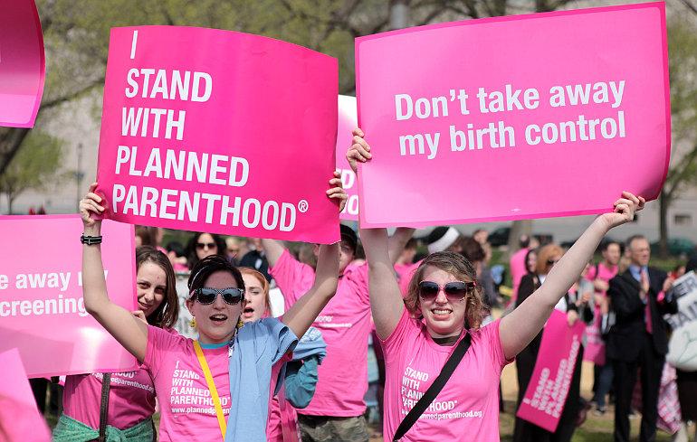 Abortuszpárti tüntetők Amerikában