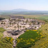 Megiddó látképe