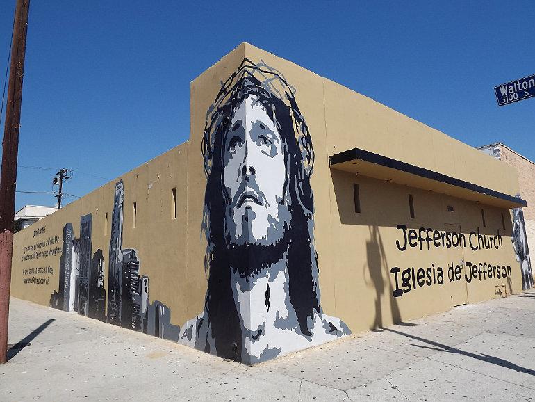 Jézus graffiti