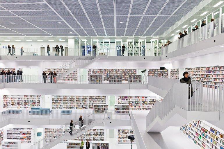 Többszintes könyvtár